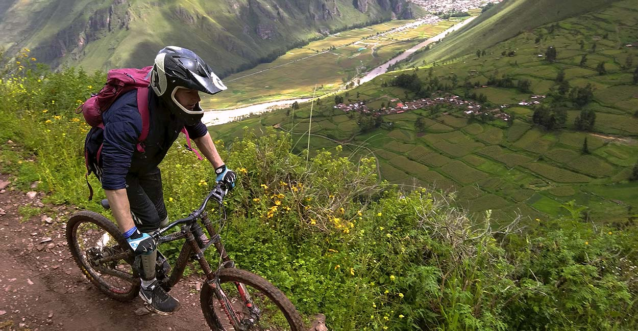 Mountain biking sacred valley Peru