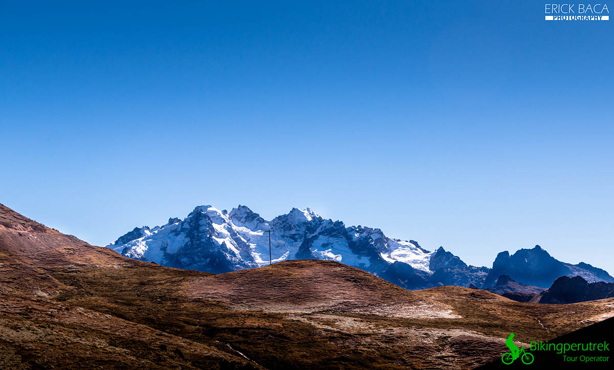 Glacied andean mountain